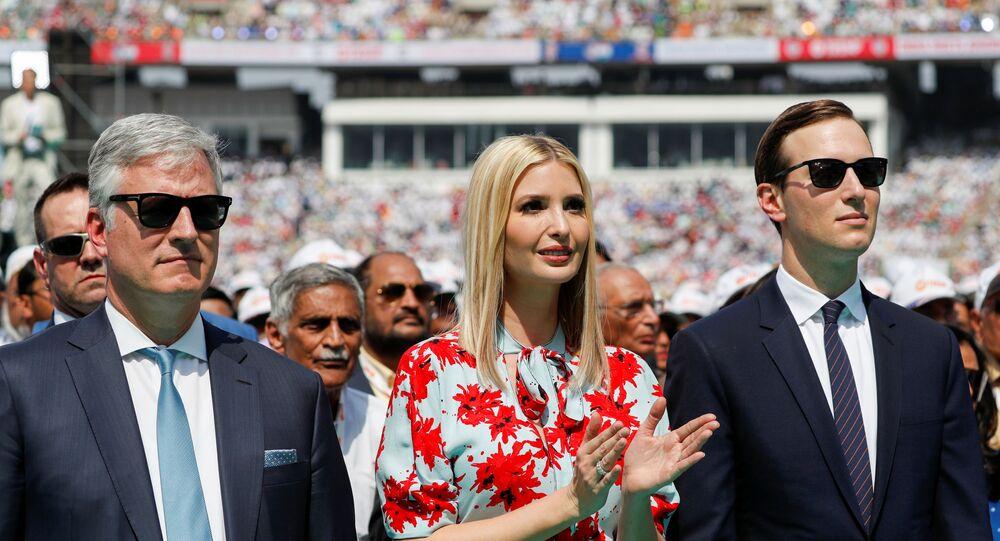 U.S. White House senior advisors Ivanka Trump and Jared Kushner