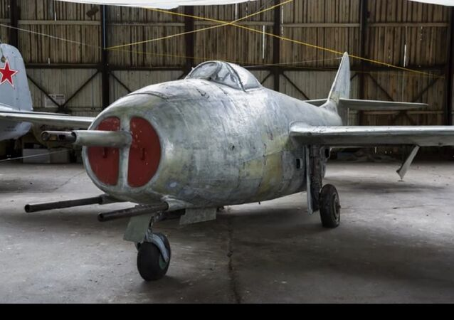 Soviet-made MiG-9 fighter jet. File photo