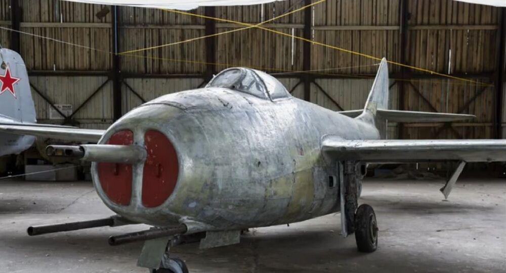 Soviet-made MiG-9 fighter jet. File photo