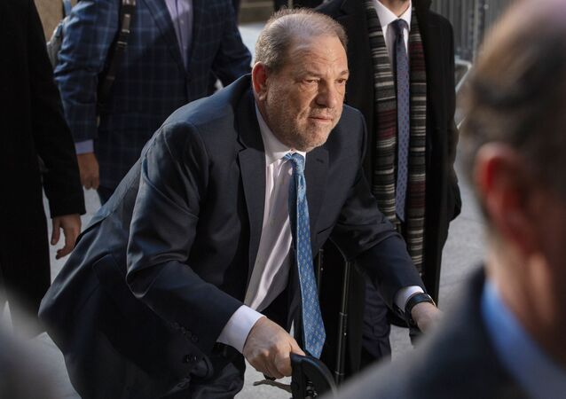 Harvey Weinstein arrives at New York Criminal Court for another day of jury deliberations in his sexual assault trial in the Manhattan borough of New York City, New York, U.S., February 24, 2020.