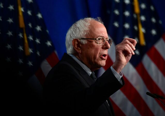 U.S. presidential candidate Senator Bernie Sanders (I-VT) delivers a speech to defend his support for a sweeping Medicare for All healthcare plan at George Washington University in Washington, U.S., July 17, 2019