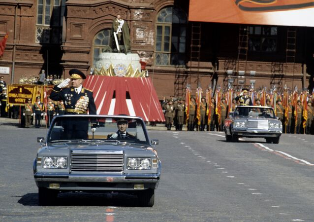 Marshal Dmitry Yazov During a Parade in Red Square Celebrating the 45th anniversary of Victory Day.