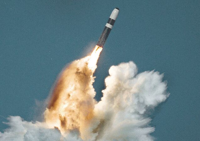 Trident II (D-5) missile underwater launch