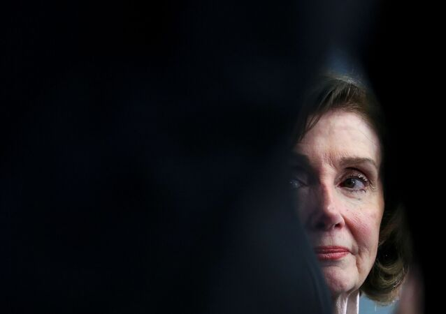 U.S. House Speaker Nancy Pelosi speaks at a news conference at NATO headquarters in Brussels