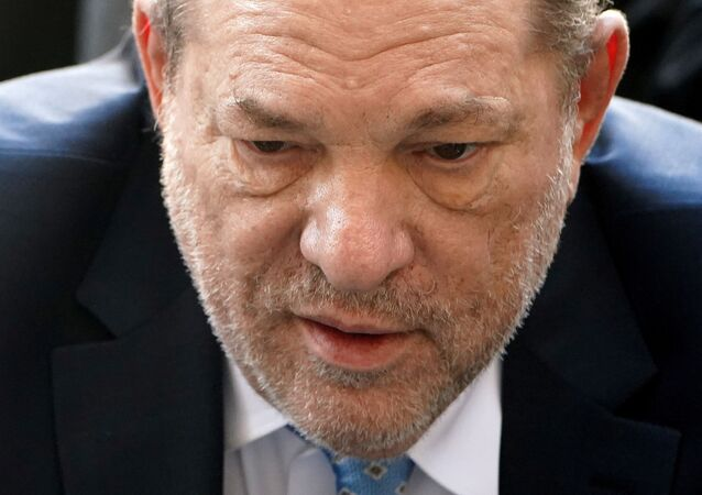 Film producer Harvey Weinstein arrives at the New York Criminal Court during his ongoing sexual assault trial in the Manhattan borough of New York City, New York, U.S., February 24, 2020