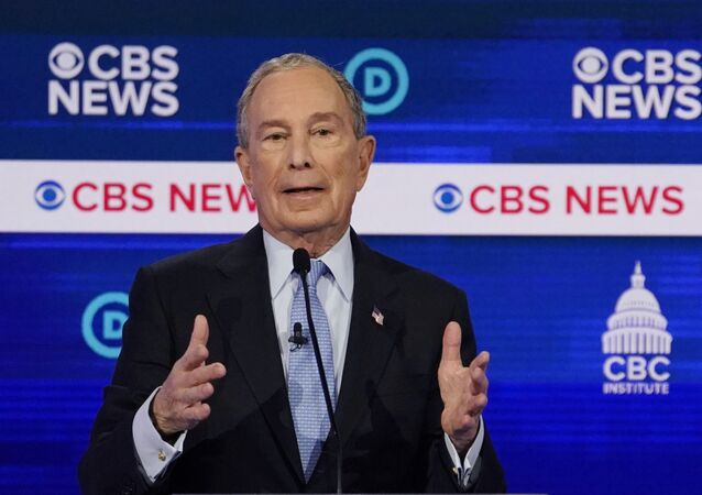 Democratic 2020 U.S. presidential candidate and former New York City Mayor Mike Bloomberg speaks during the tenth Democratic 2020 presidential debate at the Gaillard Center in Charleston, South Carolina, U.S., February 25, 2020.
