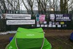 Free Julian Assange Basecamp at Belmarsh 26 Feb 2020-min