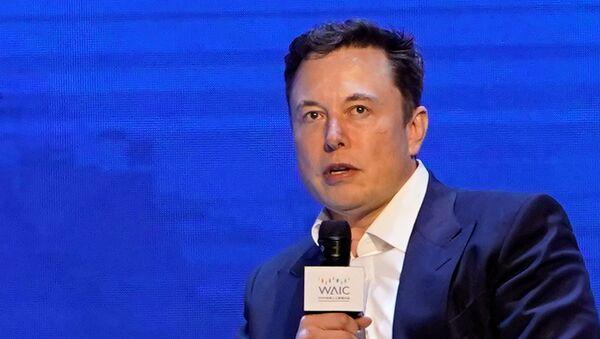 Tesla Inc CEO Elon Musk attends the World Artificial Intelligence Conference (WAIC) in Shanghai, China August 29, 2019.  - Sputnik International