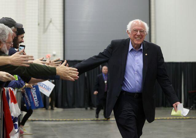 Democratic 2020 U.S. presidential candidate Senator Bernie Sanders rallies with supporters in Myrtle Beach, South Carolina, U.S. February 26, 2020.