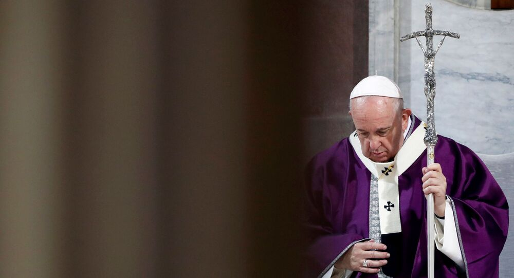 Pope Francis takes part in the penitential procession on Ash Wednesday in Rome, Italy, February 26, 2020