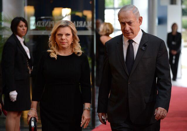 Israeli Prime Minister Benjamin Netanyahu and his wife Sarah Netanyahu