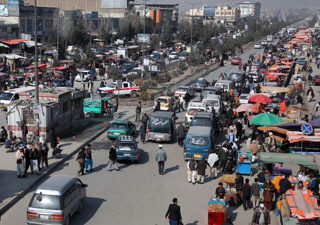 Vehicles drive on a crowded road in Kabul, Afghanistan February 22, 2020