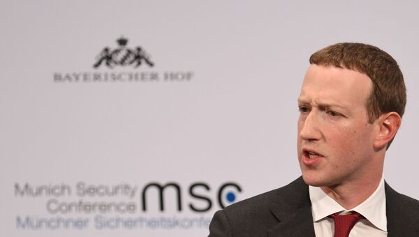 Facebook Chairman and CEO Mark Zuckerberg speaks during the annual Munich Security Conference in Germany, February 15, 2020.  - Sputnik International