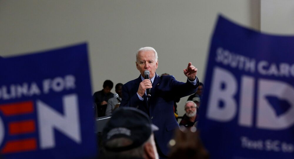 Democratic U.S. presidential candidate and former U.S. Vice President Joe Biden speaks during a campaign event in Sumter, South Carolina, U.S., February 28, 2020