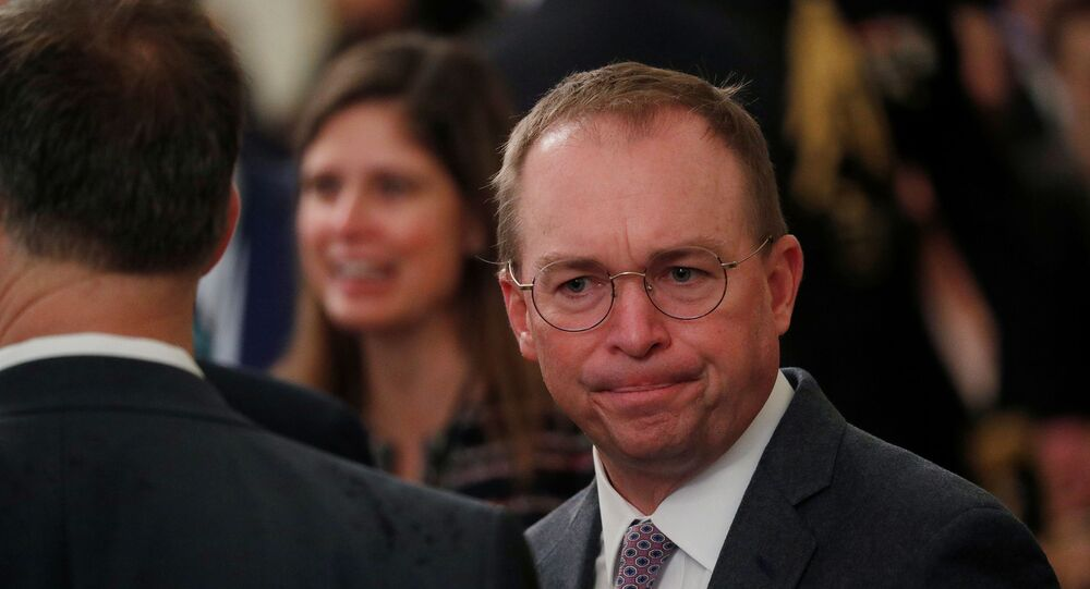 Acting White House Chief of Staff Mick Mulvaney arrives prior to U.S. President Donald Trump's statement about his acquittal on impeachment charges by the U.S. Senate in the East Room of the White House in Washington, U.S., February 6, 2020.