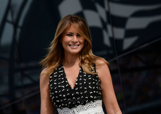 US first lady Melania Trump arrives at the NASCAR Daytona 500 in Daytona Beach, Florida, 16 February 2020. REUTERS/Erin Scott