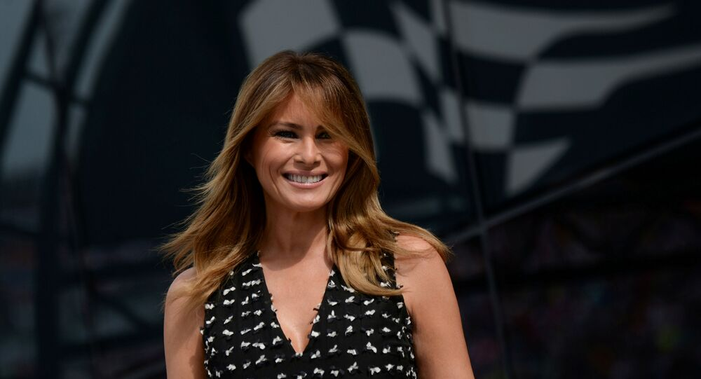 U.S. first lady Melania Trump arrives at the NASCAR Daytona 500 in Daytona Beach, Florida, U.S., February 16, 2020. REUTERS/Erin Scott