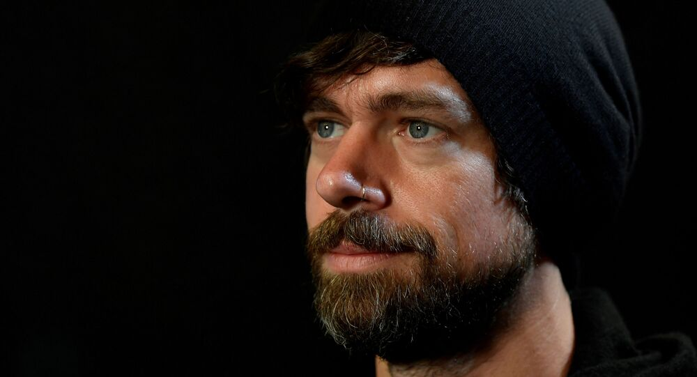 Jack Dorsey, co-founder of Twitter and fin-tech firm Square, sits for a portrait during an interview with Reuters in London, Britain, 11 June 2019.