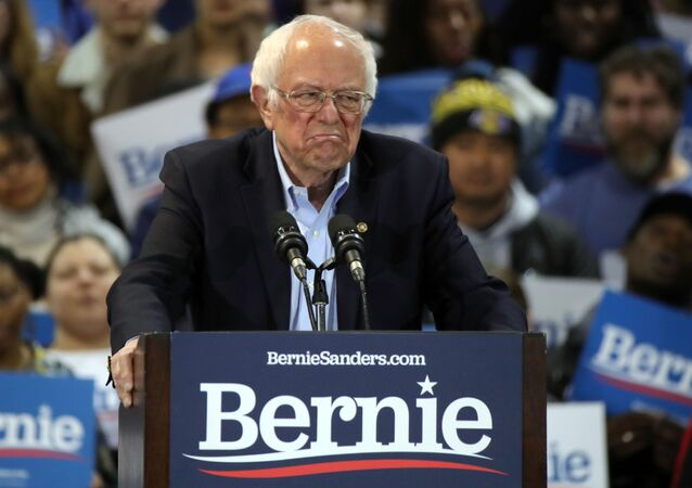 Democratic U.S. presidential candidate Senator Bernie Sanders speaks at his South Carolina primary night rally in Virginia Beach, Virginia, U.S., February 29, 2020.