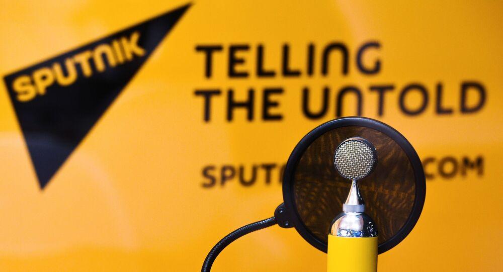 Radio Sputnik studio at the St. Petersburg International Economic Forum (SPIEF) 2017.