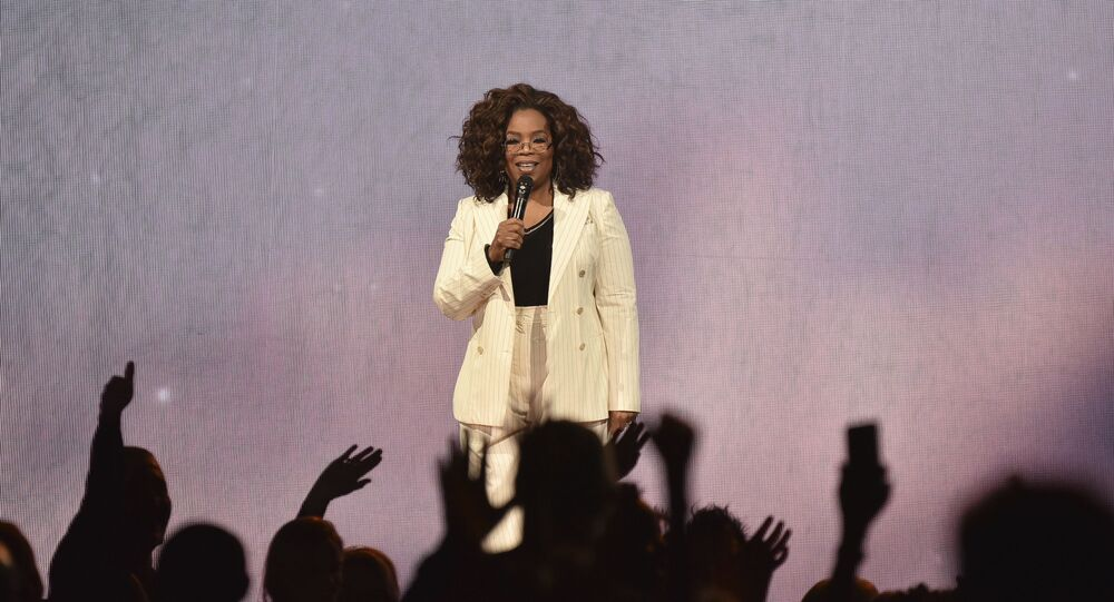Cent Clowns Oprah For Falling On Stage During Speech