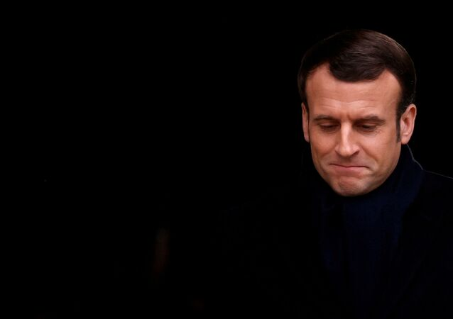 French President Emmanuel Macron attends a ceremony for late French journalist and intellectual Jean Daniel at the Hotel des Invalides in Paris, France, February 28, 2020. REUTERS/Christian Hartmann/Pool     TPX IMAGES OF THE DAY