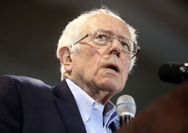 Democratic U.S. presidential candidate Senator Bernie Sanders speaks at his South Carolina primary night rally in Virginia Beach, Virginia, U.S., February 29, 2020.