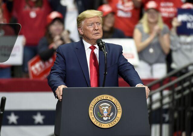 President Donald Trump in Charlotte, N.C.