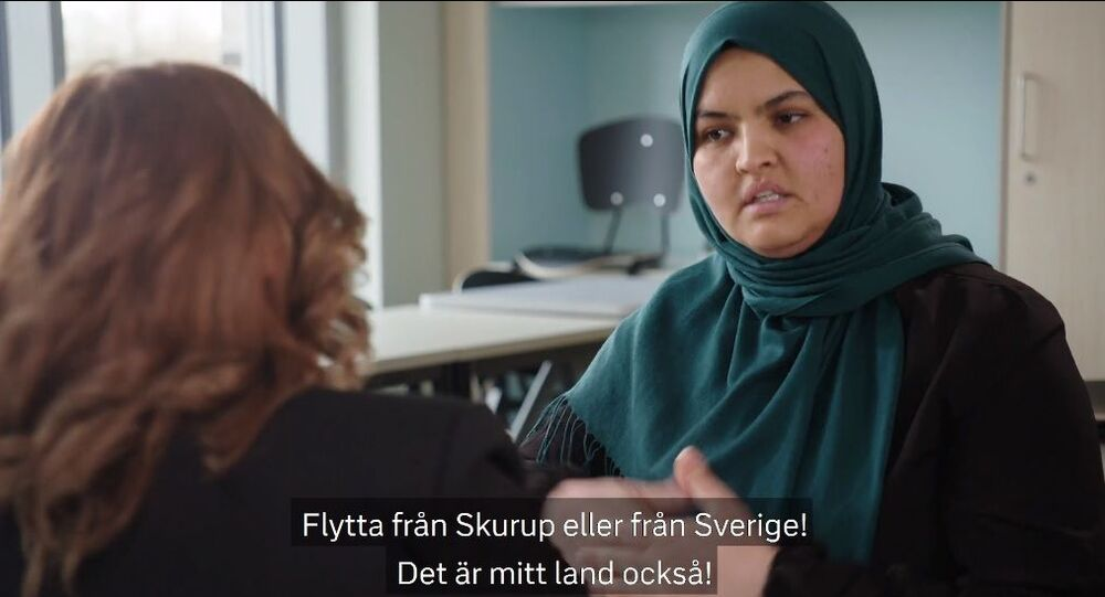 Screenshot from SVT's programme The Meeting