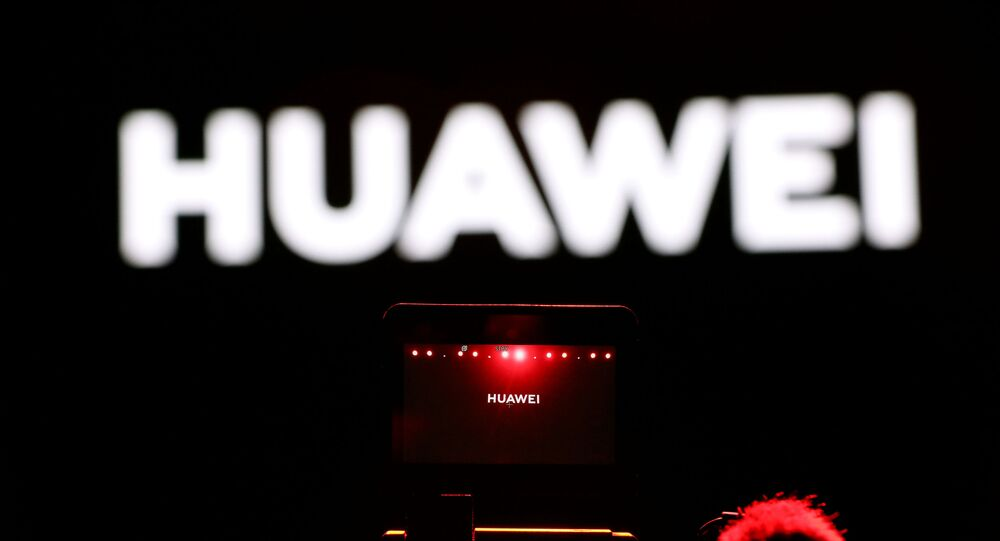 A cameraman records during Huawei stream product launch event in Barcelona, Spain February 24, 2020.