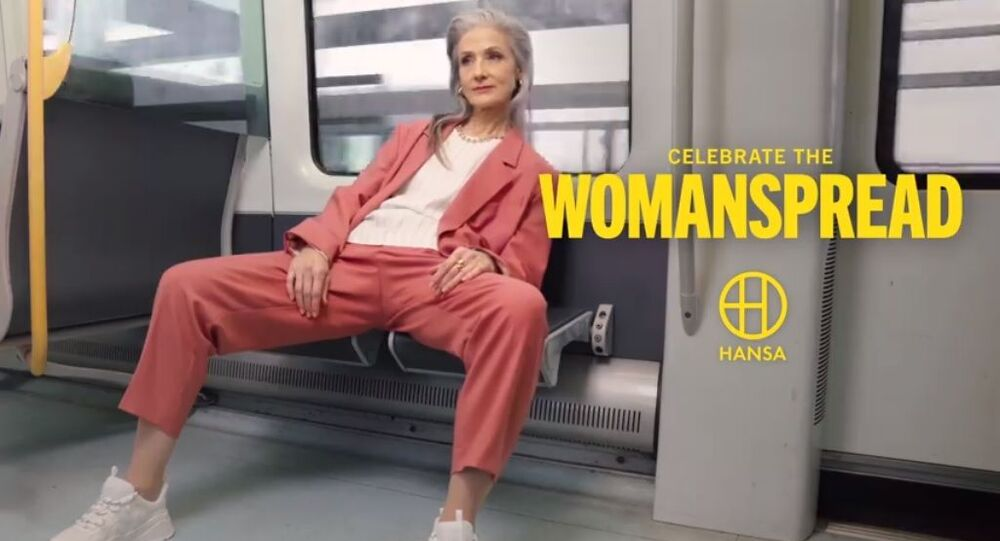 Screenshot from Celebrate the Womanspread ad by Hansa