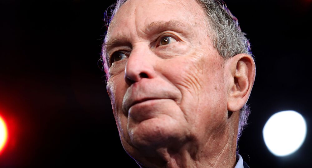 Democratic U.S. presidential candidate Michael Bloomberg speaks at his Super Tuesday night rally in West Palm Beach, Florida
