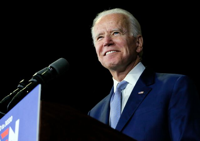 Democratic U.S. presidential candidate and former Vice President Joe Biden speaks at his Super Tuesday night rally in Los Angeles, California, U.S., March 3, 2020