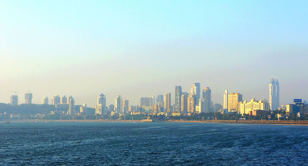 A view of the Mumbai skyline from Marine Drive