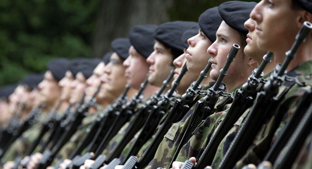 Soldiers of the Swiss army