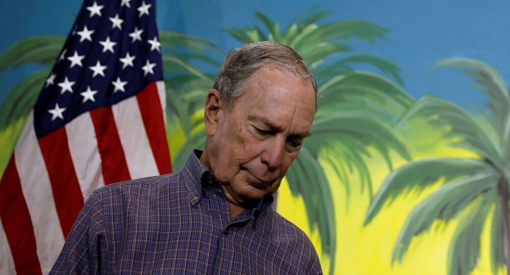 Democratic U.S. presidential candidate Michael Bloomberg waits to speak as he takes part in a press conference at his campaign office in Little Havana, Miami, Florida, U.S., March 3, 2020