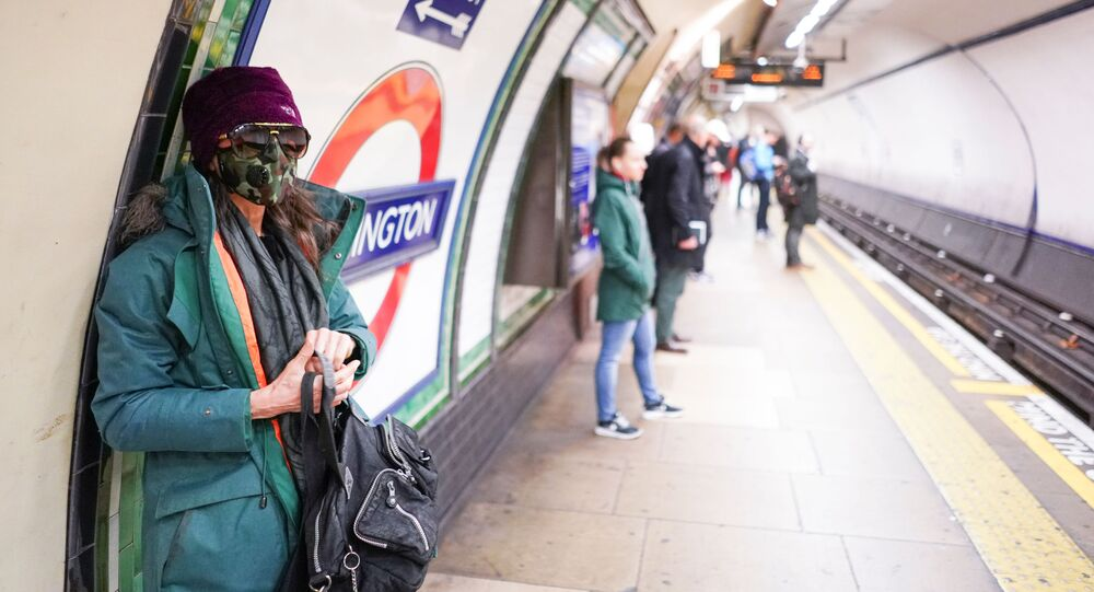 Woman Wearing Face Mask In London