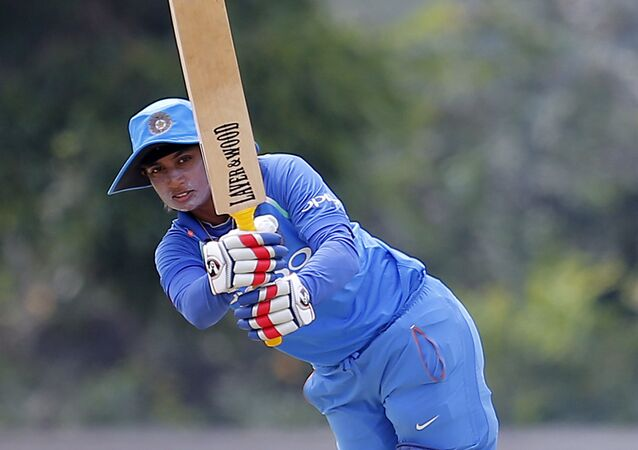 India's Mithali Raj plays a shot against Sri Lanka during their third women's one day international cricket in Katunayake, Sri Lanka, Sunday, Sept. 16, 2018