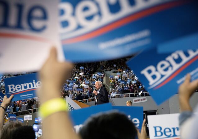 U.S. Democratic presidential candidate Bernie Sanders speaks at a rally in Phoenix, Arizona, U.S.,March 5, 2020
