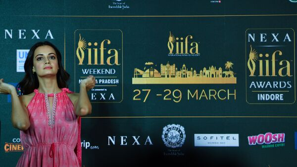 In this photo taken on March 4, 2020, Bollywood actor Dia Mirza attends the International Indian Film Academy (IIFA) press Conference for the 21st Edition of NEXA IIFA Weekend & Awards 2020, in Mumbai - Sputnik International