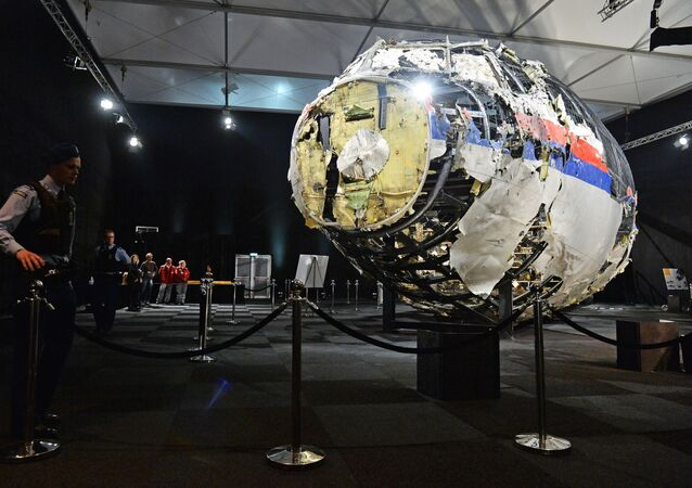 Pieces of the Boeing 777 Malaysia Airlines (flight MH17) , which crashed in 2014 on the territory of Ukraine