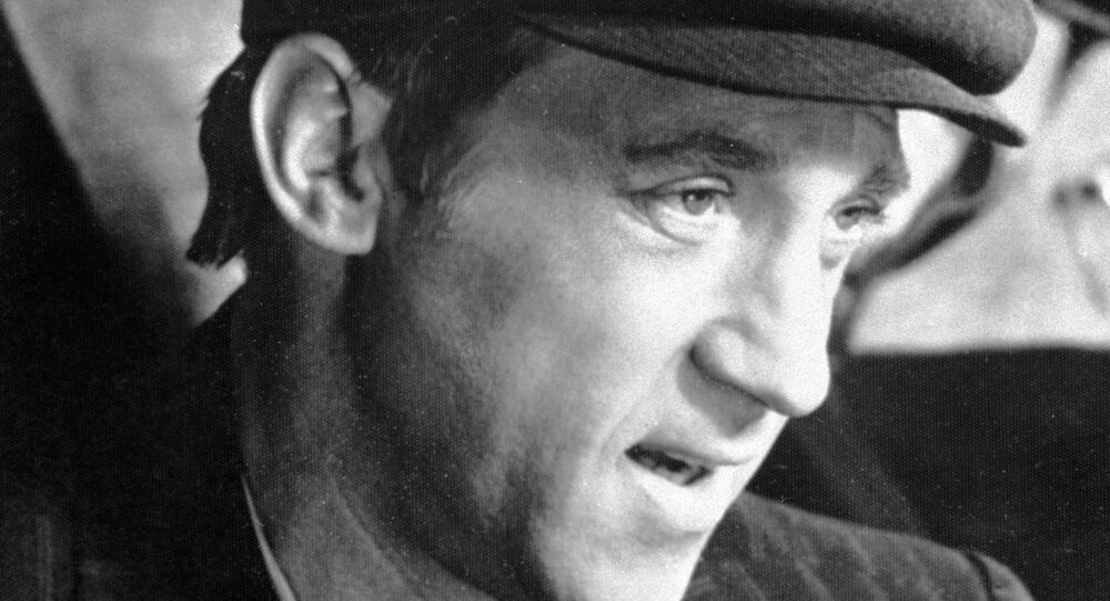 Vladimir Vysotsky playing Moscow Department of Criminal Investigations' Captain Gleb Zheglov in detective miniseries The Meeting Place Cannot Be Changed