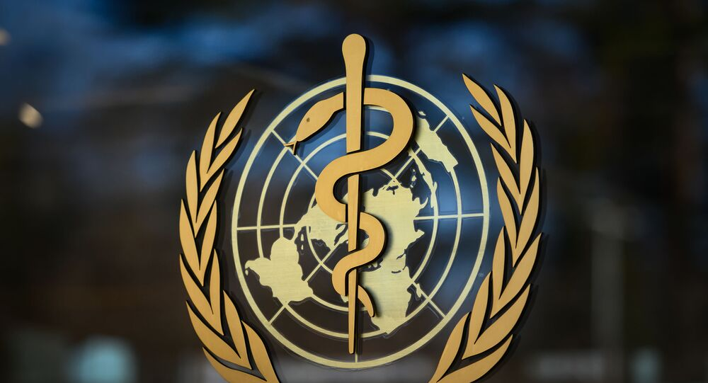 A photo taken on 24 February 2020 shows the logo of the World Health Organization (WHO) at their headquarters in Geneva. - Fears of a global coronavirus pandemic deepened on Monday as new deaths and infections in Europe, the Middle East and Asia triggered more drastic efforts to stop people travelling.