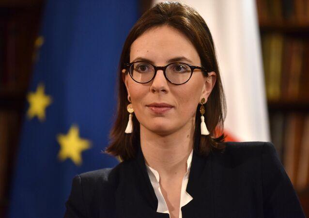 France's Junior Minister for European Affairs Amelie de Montchalin in London