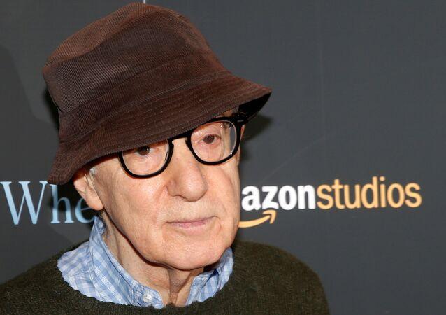 "Director Woody Allen arrives for a screening of the film ""Wonder Wheel"" in New York, U.S., November 14, 2017"