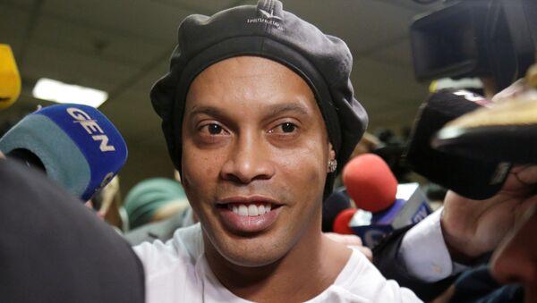 Ronaldinho leaves Paraguay's Supreme Court after testifying in Asuncion, Paraguay, March 6, 2020. REUTERS - Sputnik International
