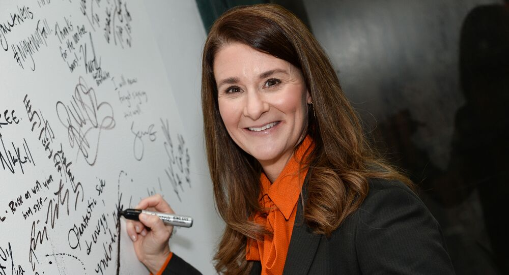 Philanthropist Melinda Gates participates in AOL's BUILD Speaker Series at AOL Studios on Tuesday, March 10, 2015, in New York.