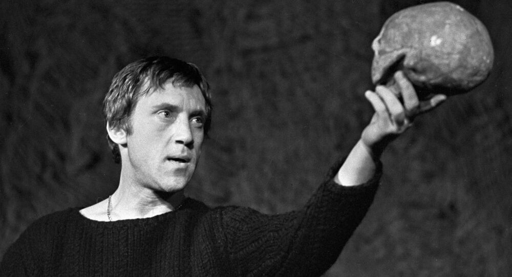 Soviet Actor Vladimir Vysotsky playing Hamlet