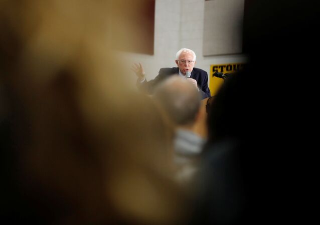 U.S. Democratic presidential candidate Bernie Sanders speaks during a rally in Dearborn, Michigan, U.S.,March 7, 2020