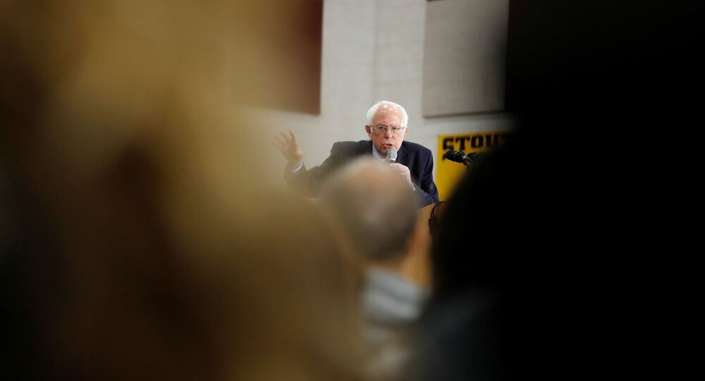 U.S. Democratic presidential candidate Bernie Sanders speaks during a rally in Dearborn, Michigan, U.S.,March 7, 2020